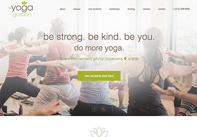 The Yoga Garden Website